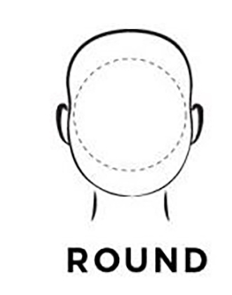 Graphic demonstration of a round face shape