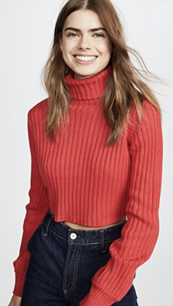 Red Holiday Turtleneck top