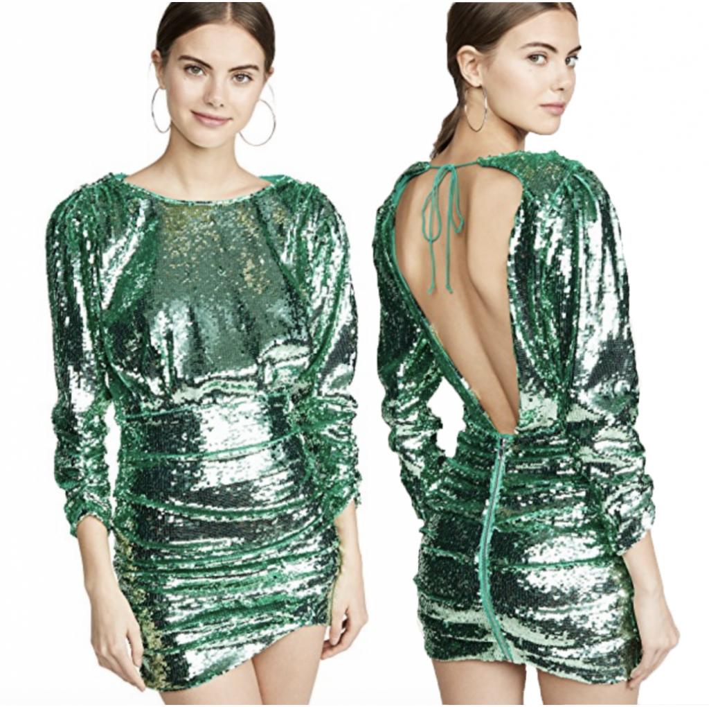 women in green dress