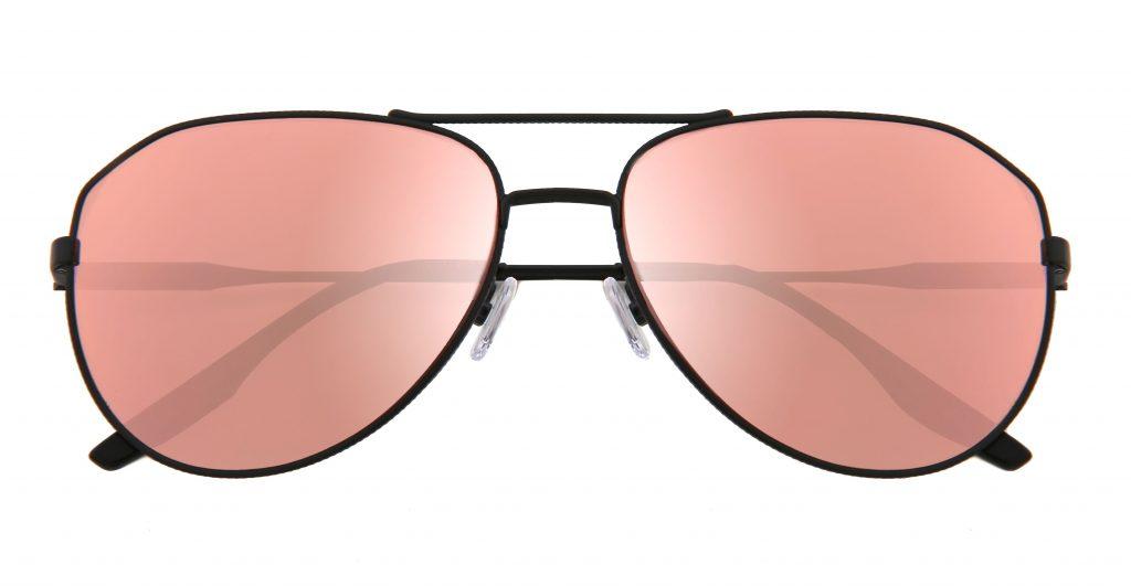 Rose-colored aviator shades