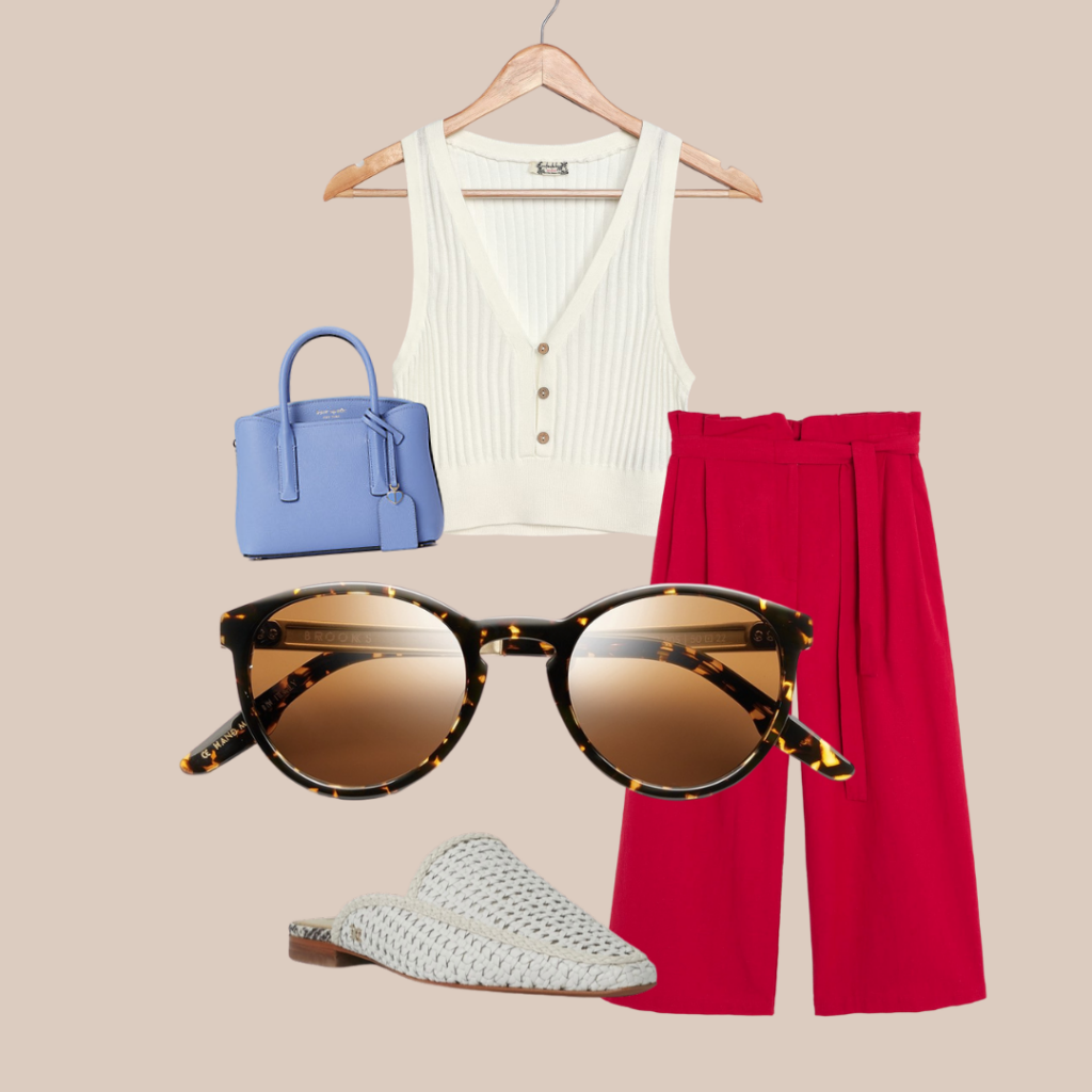 outfit with Brooks glasses