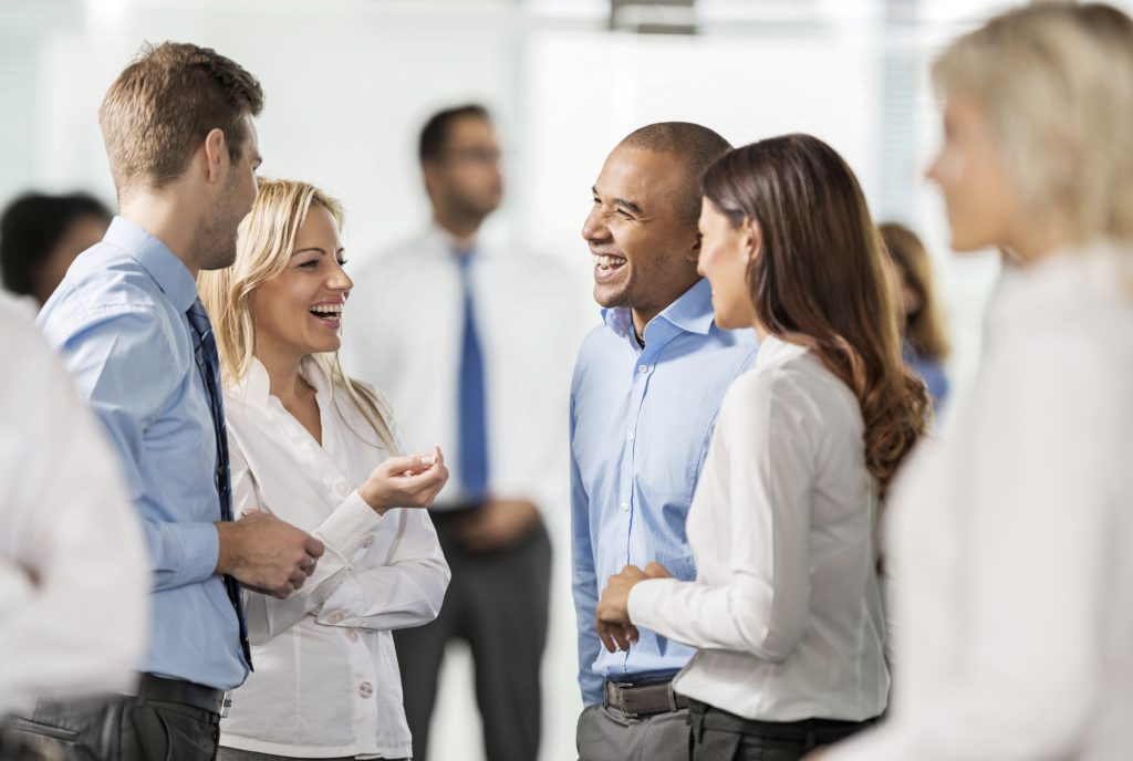 Group of professionals during a networking event