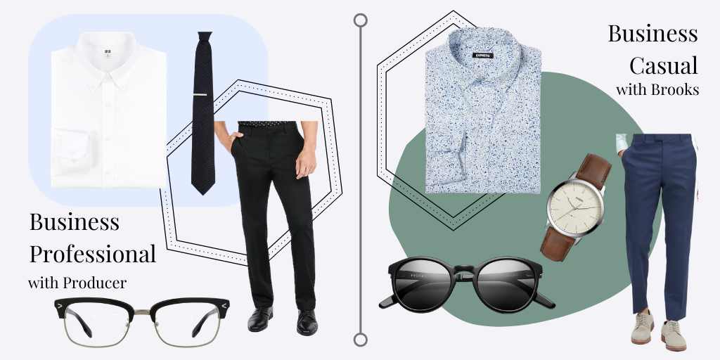 Mens business casual and business professional outfits
