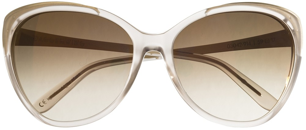 Oversized sunglasses Daggerwing in the color nude
