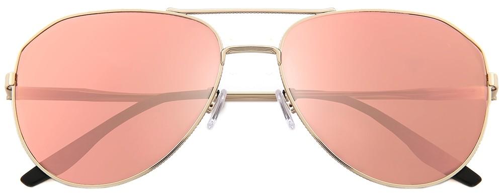 aviators, gold rims, pink tinted lenses