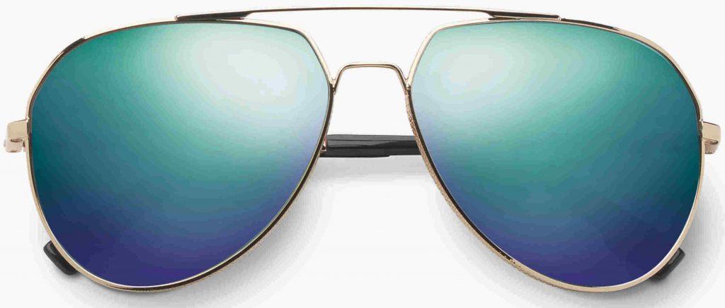 Avaitor sunglasses Blake with blue chrome flash lens