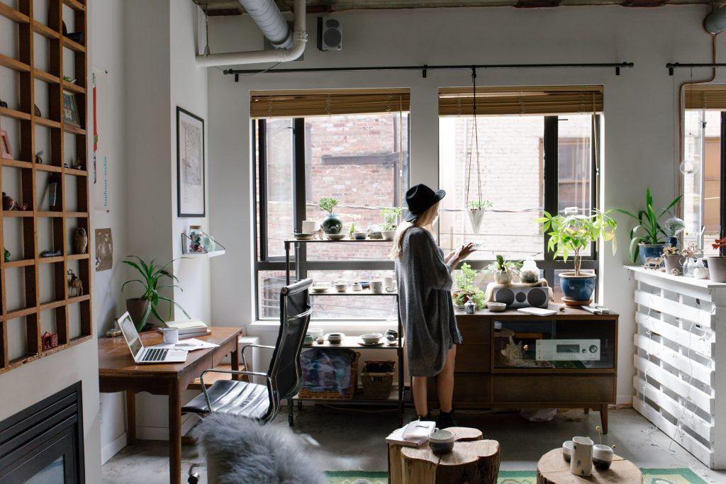 Women in home office