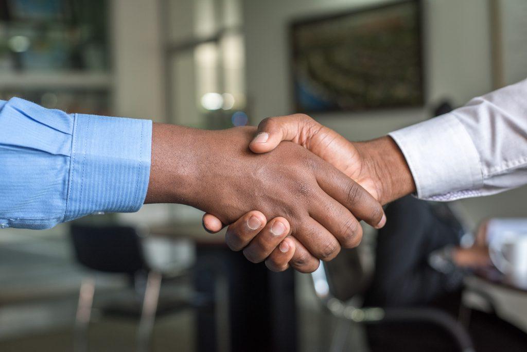Business colleagues handshake