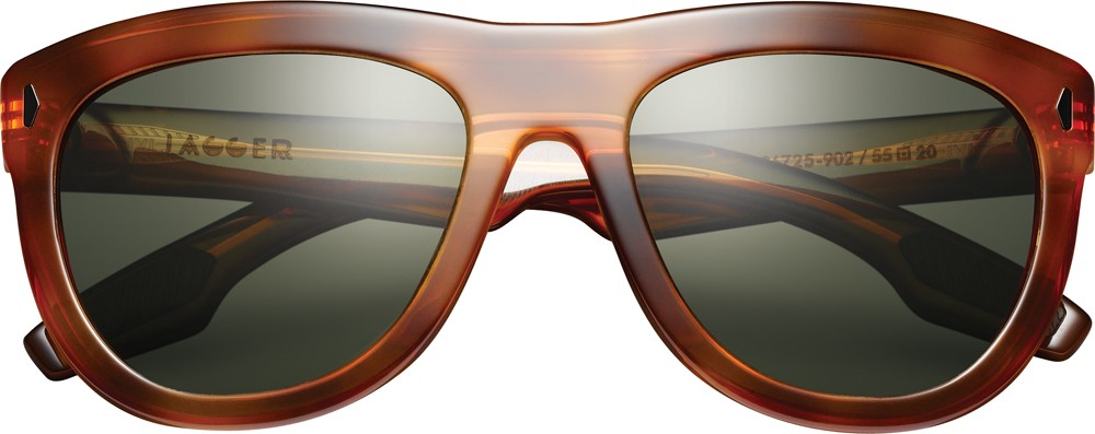 Polarized sunglasses Jagger with tortoise color frame and green lens